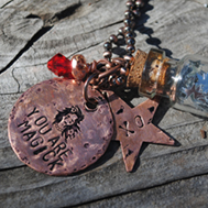 Jewelry: Hand-Stamped Bottle